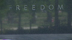 "Korean Memorial - ""Freedom Is Not Free"" Pan Stock Footage"