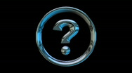 Circle around question mark rotating and spinning Stock Footage