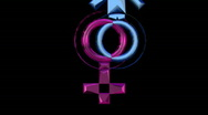 Male and female symbols or icons rotate Stock Footage