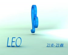 3d rotating leo zodiacal symbol with name and date, loopable Stock Footage