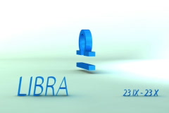 3d rotating libra zodiacal symbol with name and date, loopable Stock Footage