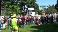 Tea party, anti-tax rally Stock Footage
