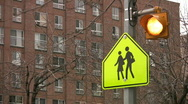 School crossing. Stock Footage
