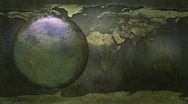 Grunge spinning Earth - HD seamless loop Stock Footage