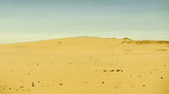 Man in desert Stock Footage