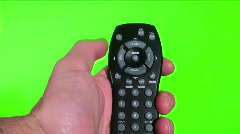 Remote against green screen - HD  Stock Footage
