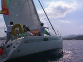Stock Video Footage of NTSC-Sailing Yacht