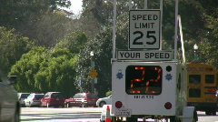 Your Speed Display on Road Stock Footage