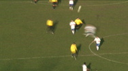 Stock Video Footage of soccer football field pitch