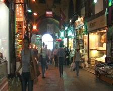 Egypt bazaar in Istanbul Stock Footage