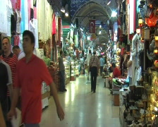 Grand Bazaar (Kapali Carsi, Covered Market) in Istanbul Stock Footage