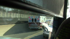 Traffic Jam Ambulance Stock Footage
