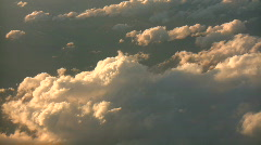 Beautiful view from above the sunny clouds (High Definition) - stock footage