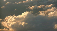 Stock Video Footage of Beautiful view from above the sunny clouds (High Definition)