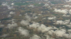 Beautiful view of country from above the clouds (High Definition) - stock footage