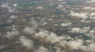 Beautiful view of country from above the clouds (High Definition) Stock Footage