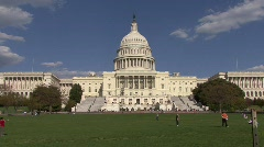 Capital Building On Capital Hill Stock Footage