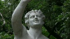 Bacchus sculpture, tilt up Stock Footage