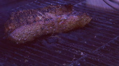 BBQ - tri-tip beef steak flank grilling seq 9 Stock Footage