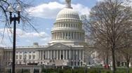 Capital Building On Capital Hill Stock Footage
