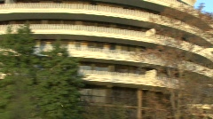 Driving Pass The Watergate Stock Footage