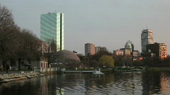 Boston Skyline Stock Footage