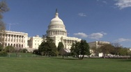 Stock Video Footage of Capital Building On Capital Hill