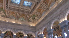 Inside Library of Congress Building Stock Footage