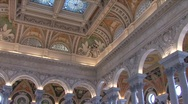 Stock Video Footage of Inside Library of Congress Building
