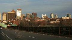 Train on Longfellow Bridge, Boston Stock Footage