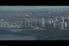 Cruise ship in vancouver Stock Footage