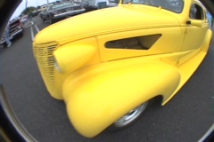 Yellow 40's ford hotrod Stock Footage