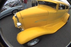 Yellow ford  Stock Footage