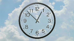Clock With Clouds Time Lapse Stock Footage