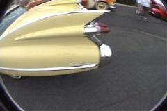 Caddilac driveby Stock Footage