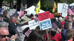 tea party, anti-tax, protesters - stock footage
