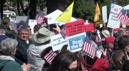Stock Video Footage of tea party, anti-tax, protesters