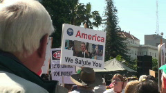 tea party, anti-tax ,protesters - stock footage