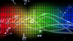 Music and wave form - stock footage