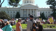 Stock Video Footage of tea party anti-tax rally