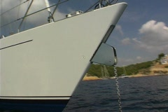 Sailing Yacht in bay- NTSC Stock Footage