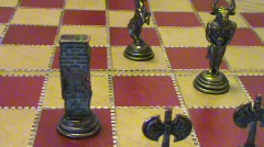 Chess, knight takes rook Stock Footage