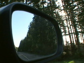 Driving Side Mirror Truck 2 Stock Footage