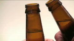 Beer bottle toast - HD  Stock Footage