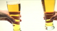 Stock Video Footage of Beer glass toast - HD