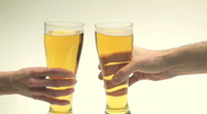 Stock Video Footage of Beer glass toast V2 - HD