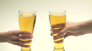 Stock Video Footage of Beer glass cheers - HD