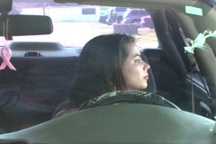Beautiful Brunette Enters Her Car-3b Stock Footage