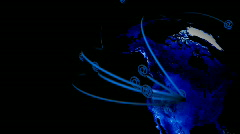 E-mail Worldwide - Earth Concept 03 (HD) - animation Stock Footage