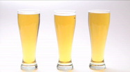 Stock Video Footage of Three glasses beer grab - HD